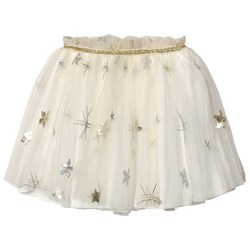 Billieblush Off-white Sequin Star Skirt