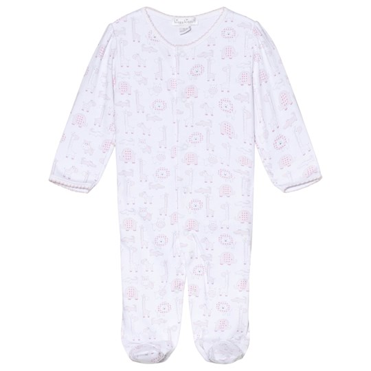 Kissy Kissy White and Pink Jungle Print Footed Baby Body PINK JUNGLE OUT THERE