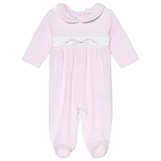 Kissy Kissy Pink Rose Velour Footed Baby Body CLB FALL