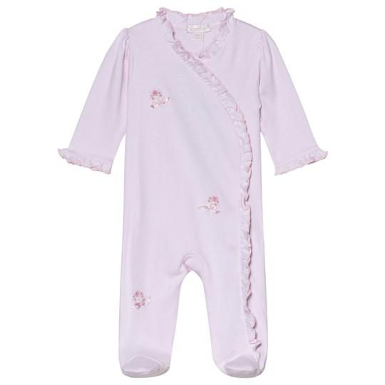 Kissy Kissy Pink Scatter Flowers Hand Embroidered Detail Frill Babygrow SCE FLOWERS