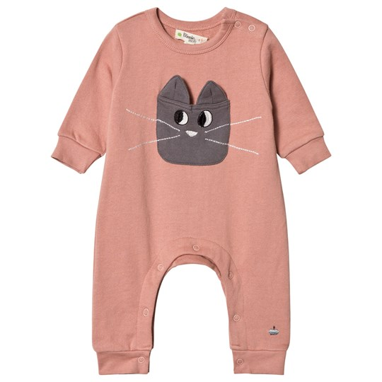 The Bonnie Mob Felix Cat Pocket Onesie Pink Pink