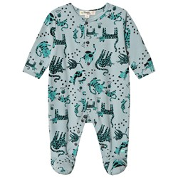 The Bonnie Mob Kitty Footed Baby Body Teal Cat