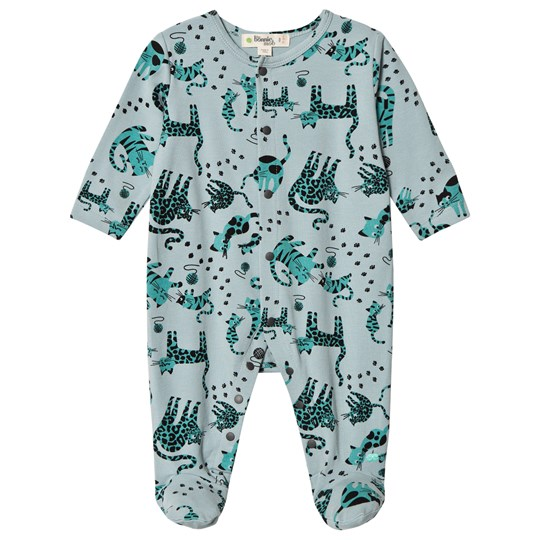 The Bonnie Mob Kitty Footed Baby Body Teal Cat Teal Cat