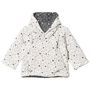 Image of The Bonnie Mob Biffy Reversible Padded Baby Jacket With Hood Cream Star 12-18 mdr (3065556239)