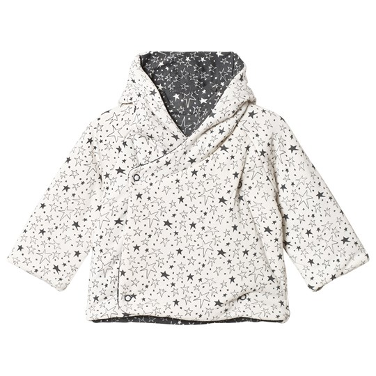 The Bonnie Mob Biffy Reversible Padded Baby Jacket Cream Star Cream Star