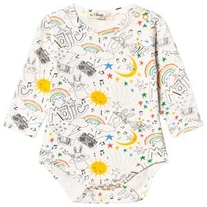 Image of The Bonnie Mob Bugsy LS Bodysuit Rainbow Print 0-3 mdr (3065556321)