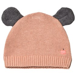 The Bonnie Mob Puff Hat with Ears Powder Pink