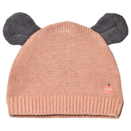 The Bonnie Mob Puff Hat with Ears Powder Pink Powder Pink