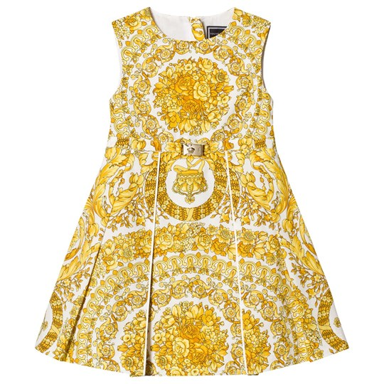 Versace Gold Baroque Floral Dress 4429