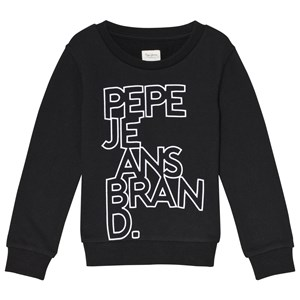 Image of Pepe Jeans Black Liam Flock Branded Sweater 10 years (3065524021)