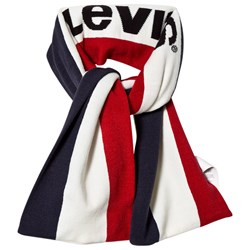 Levi's Kids Navy and Red Logo Scarf