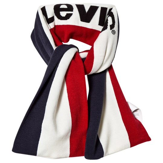 Levis Kids Navy and Red Logo Scarf 48