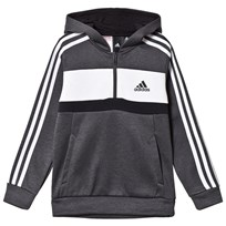 adidas Performance Dark Grey Side Stripe Hoodie grey five white black cec4e0a2b8
