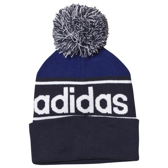 4cc6979abdc adidas Performance Blue Linear Beanie collegiate navy MYSTERY INK F17 white