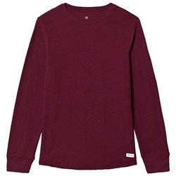 GAP Ruby Wine Textured T-Shirt