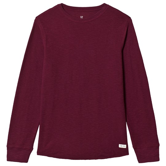 GAP Ruby Wine Textured T-Shirt Ruby Wine