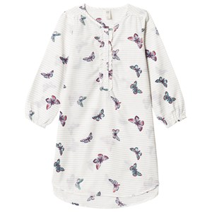 Image of GAP White Butterfly Print Ruffle Nightgown 14 (13-14 år) (3065577107)