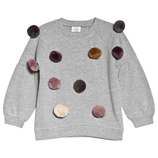Hust&Claire Sofia Sweatshirt Grey Light Grey Melange