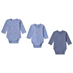 Hust&Claire 3-Pack Base Baby Body Blue