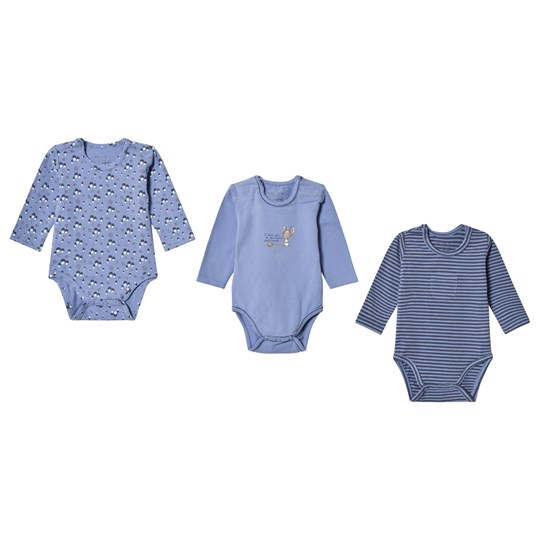 Hust&Claire 3-Pack Base Baby Body Blue Blue Bell