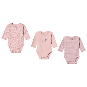 Image of Hust&Claire 3-Pack Base Baby Body Pink 62 cm (2-4 mdr) (3066371683)