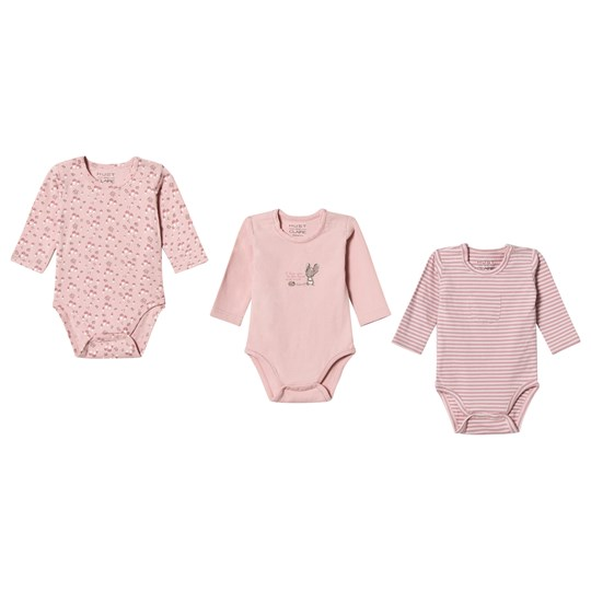 3-Pack Base Baby Body Rosa - Hust Claire - Babyshop 6cd3aeea74a69
