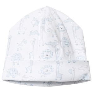 Image of Kissy Kissy Blue Jungle Out There Print Baby Hat Newborn (3066370771)