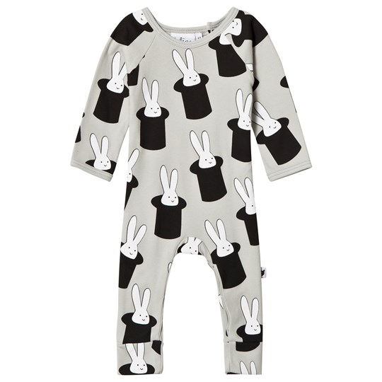 Tobias & The Bear Rabbit in a Hat One-Piece Grå Black/White on Grey