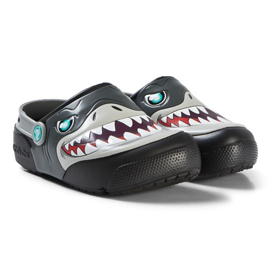 Crocs Black Shark Fun Lab Clogs Black