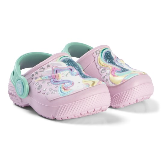 Crocs Ballerina Pink & New Mint Unicorn Sparkle Fun Lab Clogs Ballerina Pink/New Mint