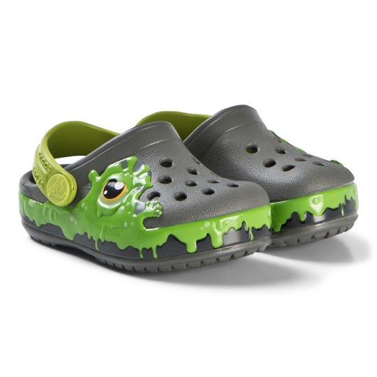 Crocs Slate Grey Lime Slime Fun Lab Clogs Slate Grey