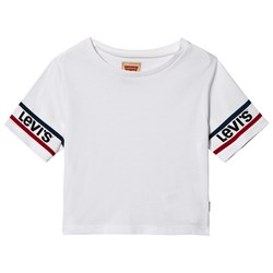 Levi's Kids White Cropped Logo Sleeve Tee