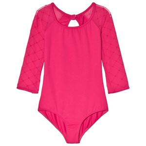 Image of Bloch Berry Selene Diamond Flocked Mesh Leotard 4-6 years (3061221125)