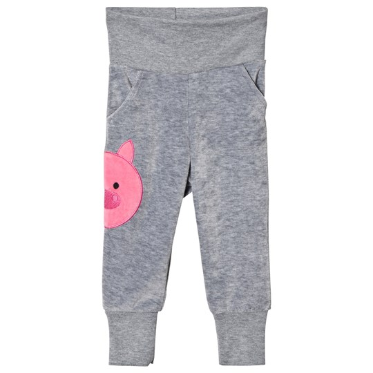 Geggamoja Pig Pants Grey Melange Black