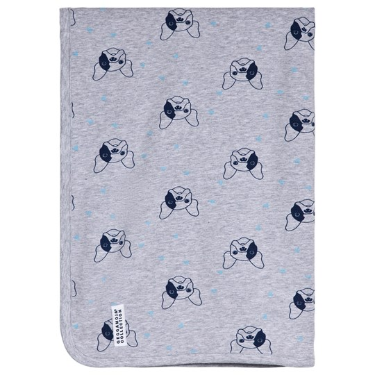 Geggamoja Bulldog Baby Blanket Grey Sort