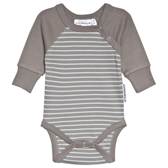 Geggamoja Baby Body Dark Grey Melange/Grey Black