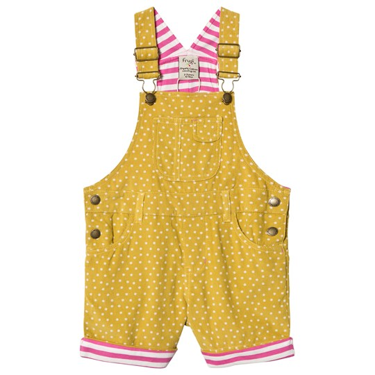Frugi Spot Cord Overalls Yellow Gorse Speckle Spot_AW18