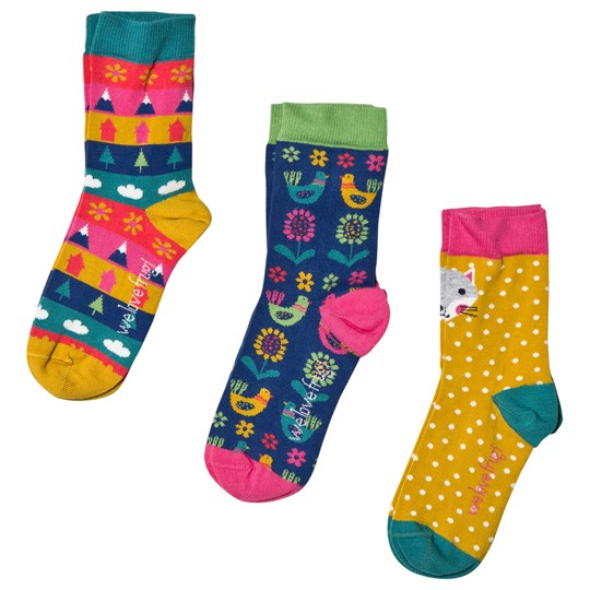 Frugi 3-Pack Arctic Fox Socks Multicolor Arctic Fox Multipack_AW18
