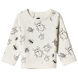 Sproet & Sprout Bugs Print Sweater White