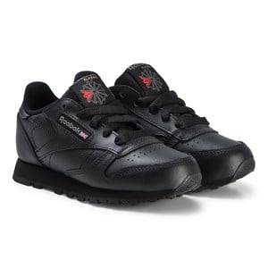 Image of Reebok Black Classic Leather Sneakers 35 (UK 3.5) (3125293621)