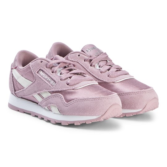 Reebok Lilac Nylon Classic Trainers INFUSED LILAC/WHITE/SILVER