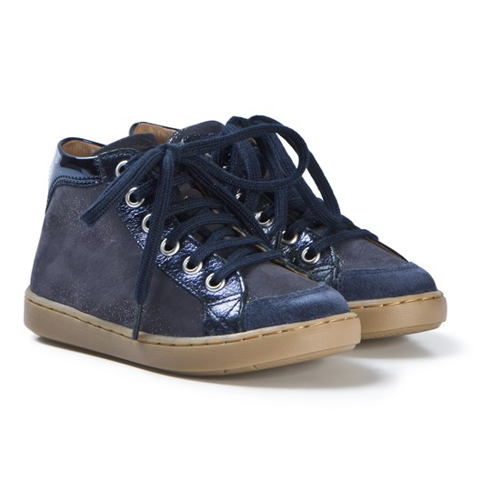 Shoo Pom Play Lace Zip Shoes Navy