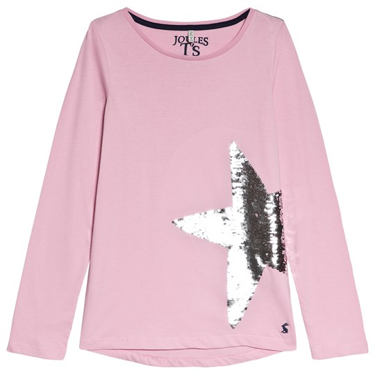 Tom Joule Pink Ava Sequin Star T-Shirt DUSKY PINK SEQUIN STAR