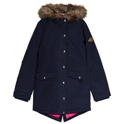 Tom Joule Navy Willow Lined Parka Coat