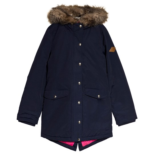 Tom Joule Navy Willow Lined Parka Coat French Navy