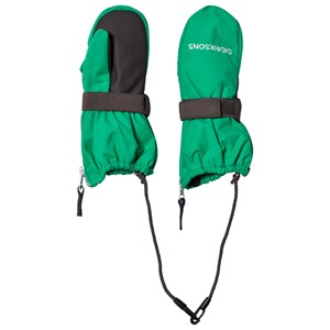 Image of Didriksons Biggles Zip Mittens Bright Green 0-2 år (3125255017)