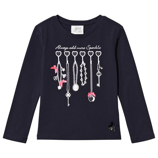 Le Chic Bow Jewelry Tröja Marinblå Navy