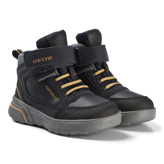 Geox Navy and Yellow Sveggen Amphibiox Boots C0657