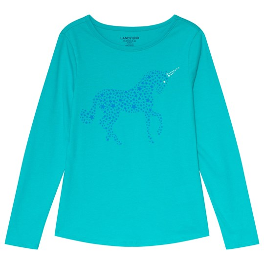 Lands' End Turquoise Unicorn Tee TV3