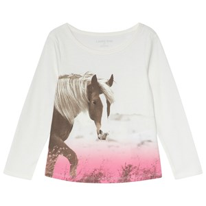 Image of Lands' End White Horse Tee 18-24 months (3058851959)